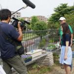 テレビ神奈川がルネッサンスプロジェクトのロケ