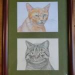 カフェギャラリーは「猫」の絵