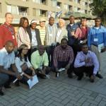 JICA研修のアジア・アフリカの専門家が中川を見学