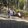 小学生も参加し、山崎公園の竹林整備