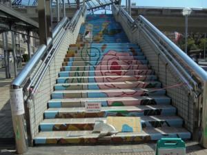 昼休みの階段
