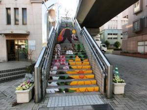先輩たちが描いたもう一つの階段アート