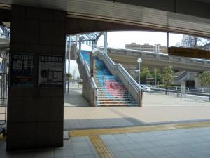 駅から見る階段