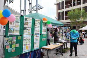 10月29日、中川ふれあいフェスタでHRGプロジェクトの説明