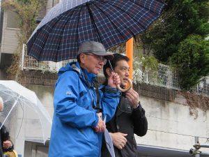 祝辞をする畑澤区長とぐるっと緑道理事長の塩入さん