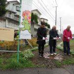 早渕川・老馬谷ガーデン:小雨の中、大勢が参加、オープンセレモニーが開催されました