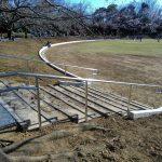 山崎公園運動広場の工事が完了! 桜も開花!