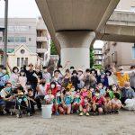 中川駅周辺のクリーン作戦に40人が参加